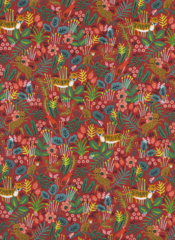 Cotton & Steel Menagerie Jungle Red