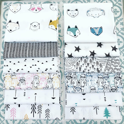 {New Arrival} Art Gallery Capsules Pine Lullaby Rediscovered Fat Quarter Bundle x 12 Pieces