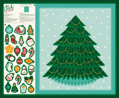{New Arrival} Moda Stacey Iest Deck The Halls Panel Multi