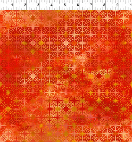 In The Beginning Fabrics Calypso Compass Burnt Orange