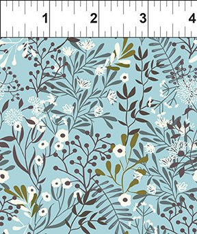 In The Beginning Fabrics Mermaid & Unicorns Vines Blue