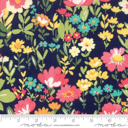 Moda Regent Street Cotton Lawns 2018 English Garden Navy
