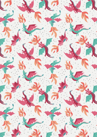 Lewis & Irene Dragons Flying Dragons on Cream