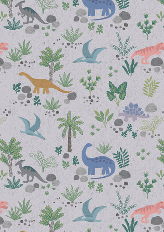 Lewis & Irene Kimmeridge Bay Land Dinos on Grey