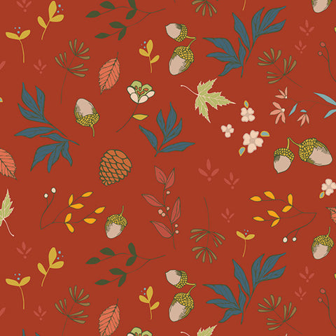 Art Gallery Autumn Vibes Acorns & Pinecones Pecan