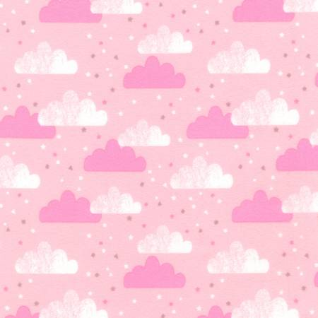 {New Arrival} Robert Kaufman FLANNEL Pink Clouds
