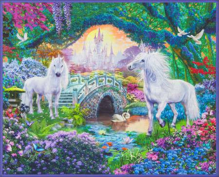 Robert Kaufman Sweet Unicorn Digital Panel 36in