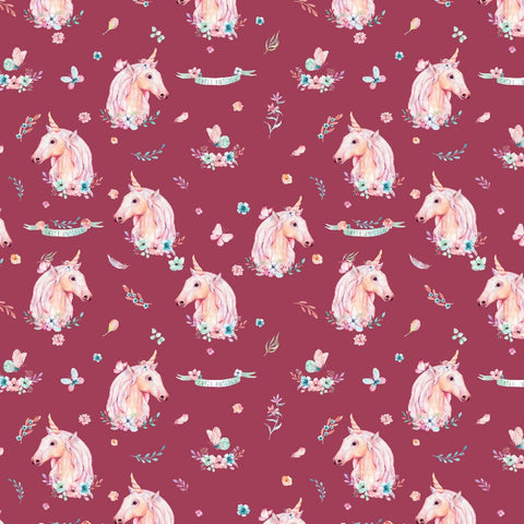 {New Arrival} Devonstone A Magical Time Unicorn Burgundy