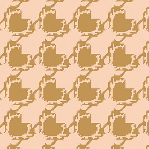 Art Gallery Blithe KNIT Deer Houndstooth Tan