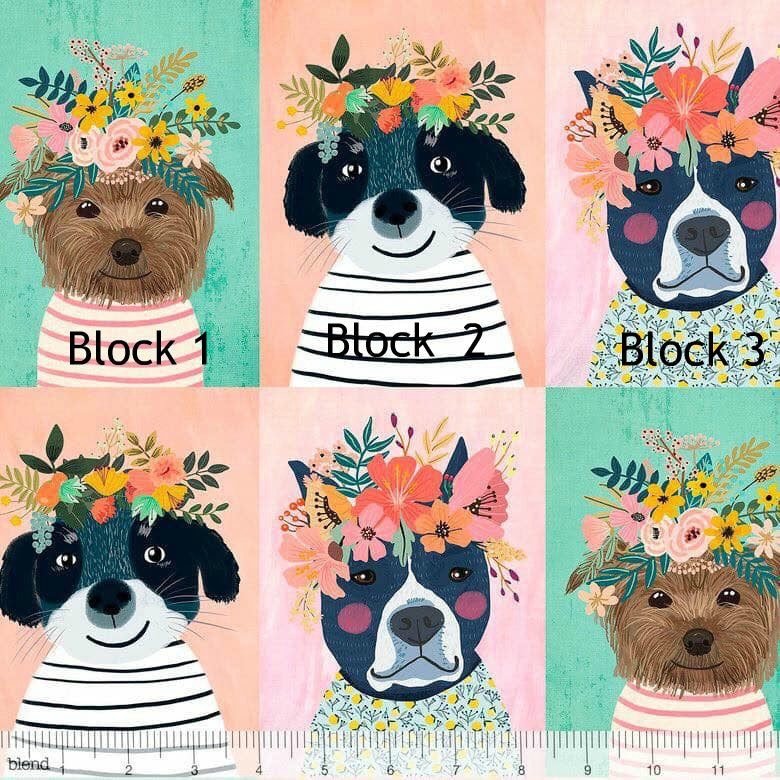 Blend Floral Pets Floral Kitty Single Block Pups