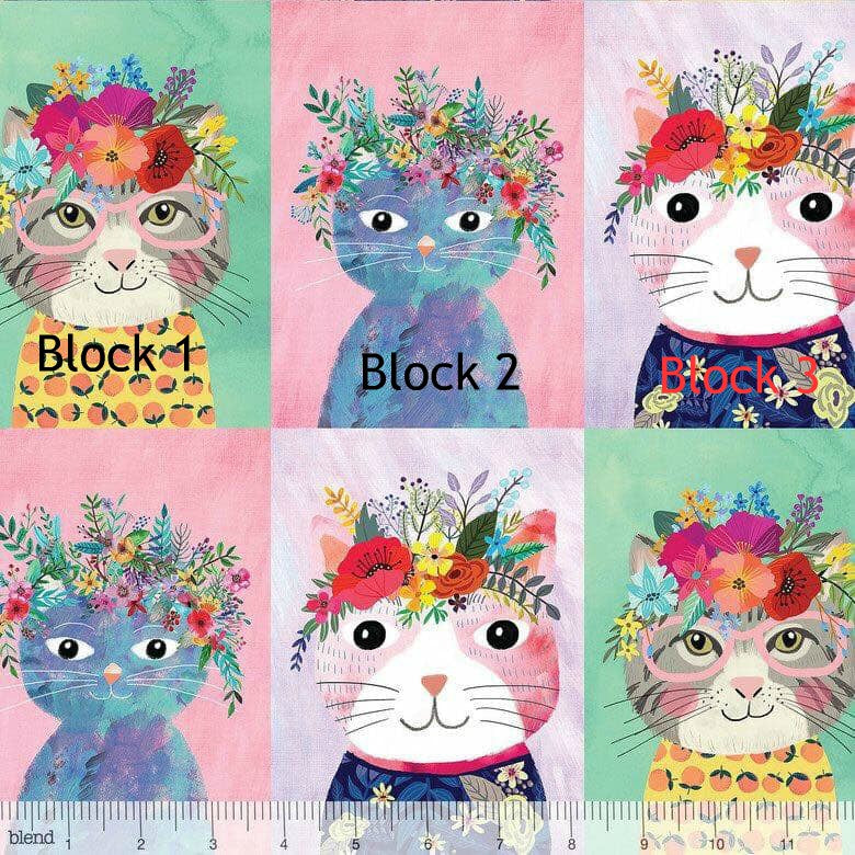 Blend Floral Pets Floral Kitty Single Block Cat