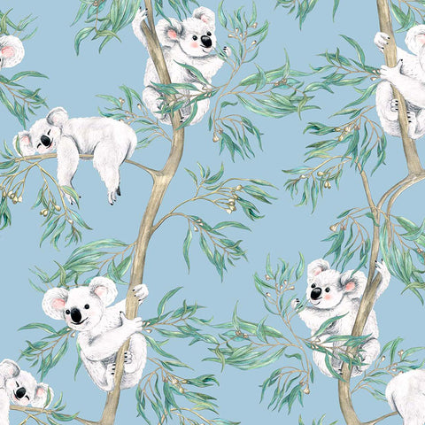Michelle Holik Gumtree Friends Koalas on Blue Allover