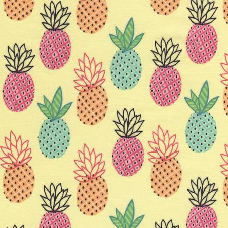 Timeless Treasures Fun Pineapples Yellow