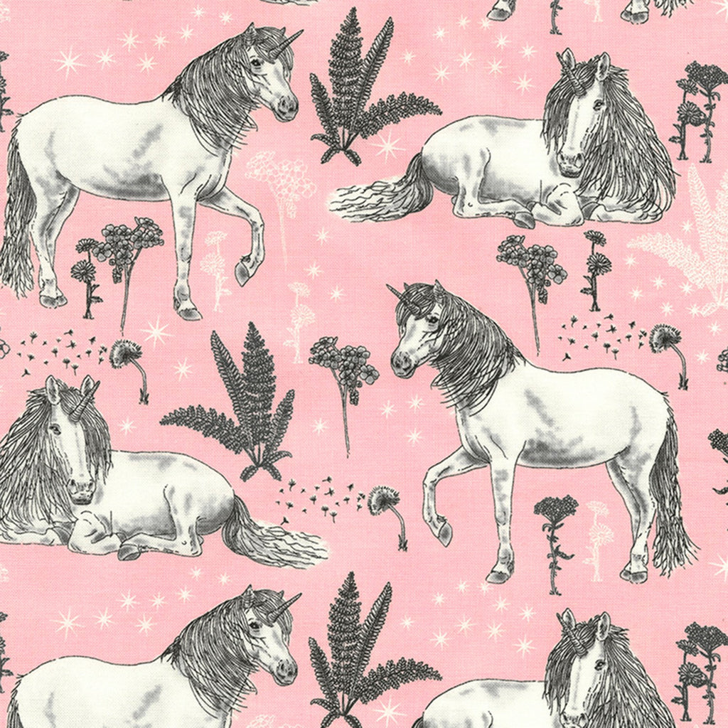 Timeless Treasures Pink & Pretty Pink Unicorns