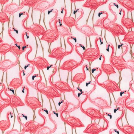 Timeless Treasures Oasis Pink Flamingos