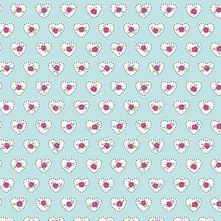 Riley Blake Little Dolly Hearts Blue