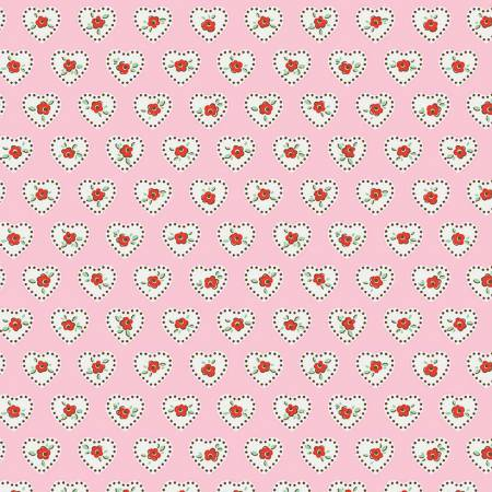 Riley Blake Little Dolly Hearts Pink