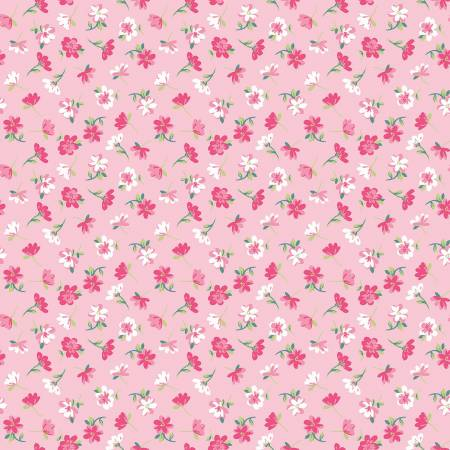 Riley Blake Novelty Flowers Pink