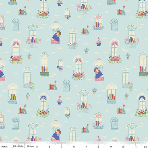 {New Arrival} Riley Blake Beauty & the Beast Windows Light Blue