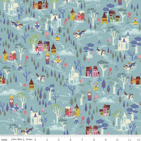 {New Arrival} Riley Blake Beauty & the Beast French Countryside Blue