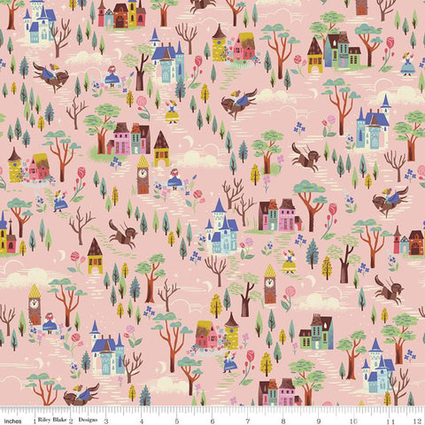 {New Arrival} Riley Blake Beauty & the Beast French Countryside Pink