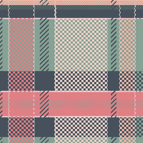 Art Gallery Mad Plaid Coral Views