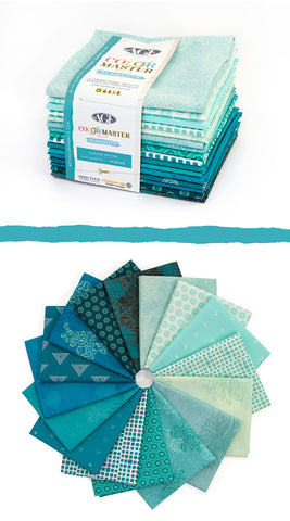 Art Gallery Colour Master Elements Glacier Edition x 16 Fat Quarters