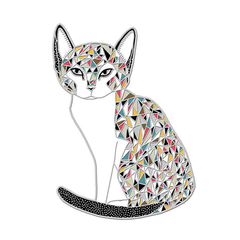 Gingiber Enamel Pins Calico Cat