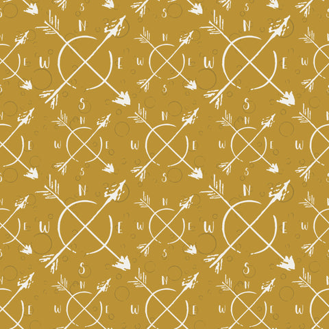 Sweet Bee Designs Unscripted Compass Mustard