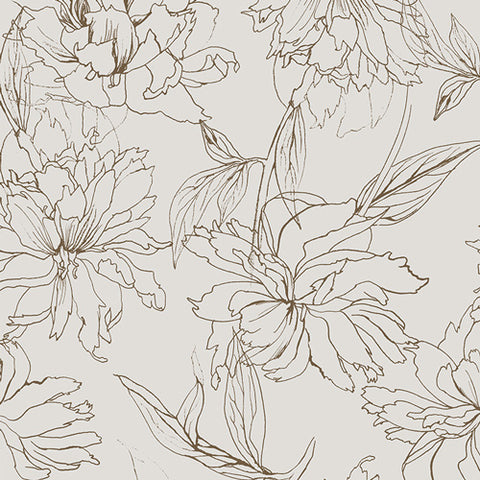 Art Gallery Decadence Fair Peonies Traced