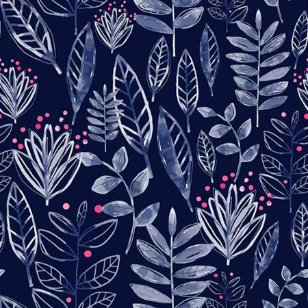 {New Arrival} Shannon Fabrics Digital CUDDLE Ink Cuddle Modern Leaf