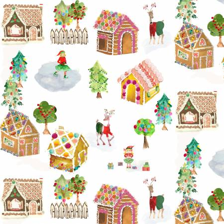 {New Arrival} Michael Miller Sweet Holiday Multi Gingerbread