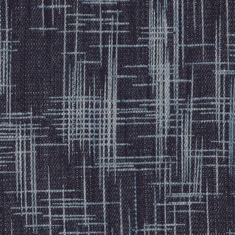 The Denim Studio Yarn Dyed Fabric  Crosshatch Textured Denim Rainy Night