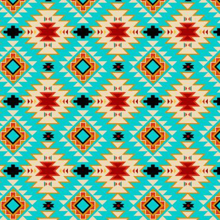 David Textiles Native Spirit Turquoise/Multi Native Argyle