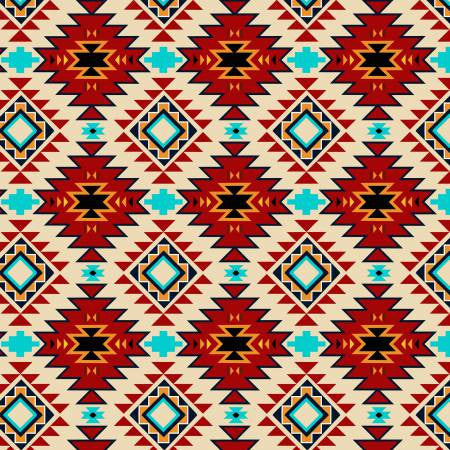 David Textiles Native Spirit Cream/Multi Native Argyle