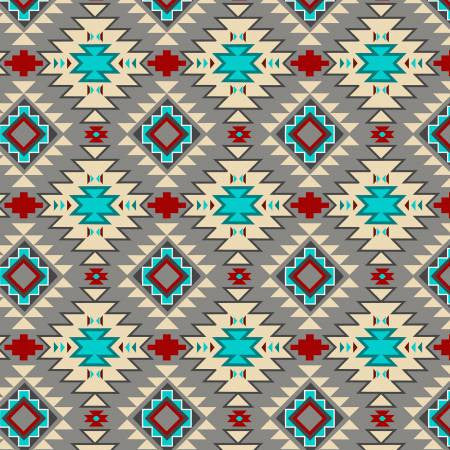 David Textiles Native Spirit Grey/Multi Native Argyle