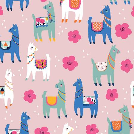 {New Arrival} Riley Blake Designs Designer  FLANNEL Novelty Llamas Pink