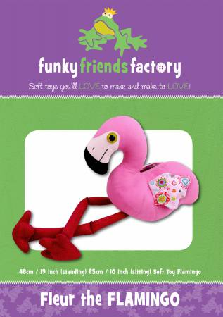 Funky Friends Factory Fleur the Flamingo Pattern