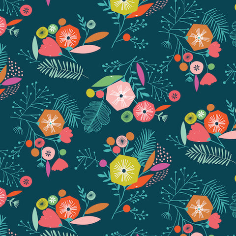 Dashwood Studios Flock Floral Navy