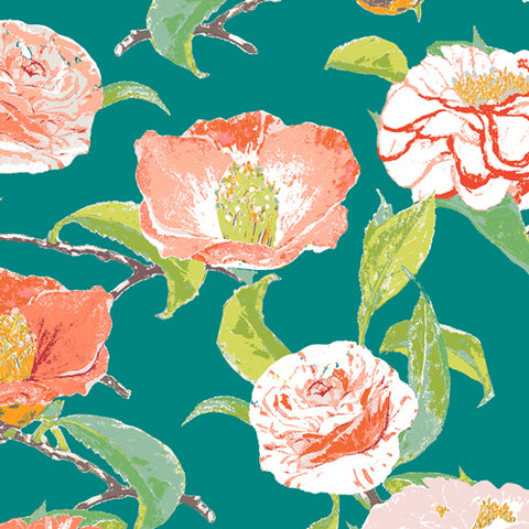Art Gallery Floralish Evergreen Camellia