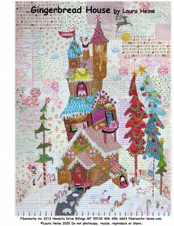 {New Arrival} Laura Heine Gingerbread House Collage Pattern