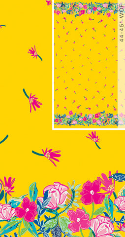 Art Gallery Fabrics Hello Sunshine Sunny Days Ahead - Double Border Panel