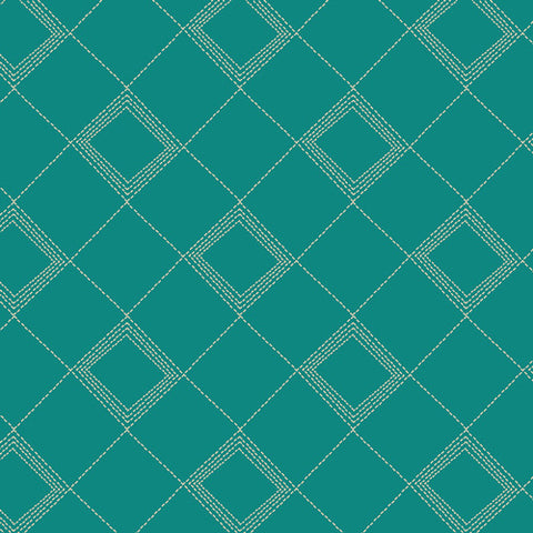 Art Gallery Indie Folk Tartan Teal