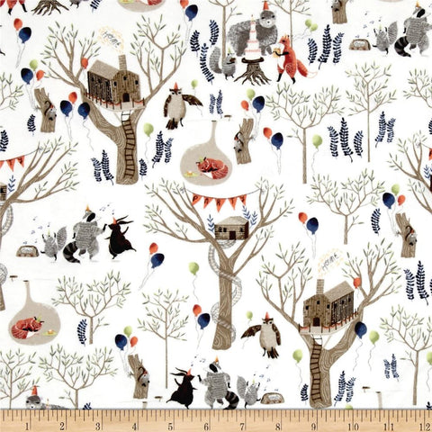 Dear Stella Nocturnal Dreams FLANNEL Treetop Party