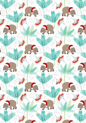 Aussie Christmas by Sew Darling Wombat Christmas FAT QUARTER