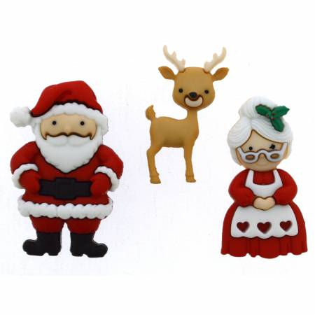 Dress it up Buttons Mr & Mrs Claus