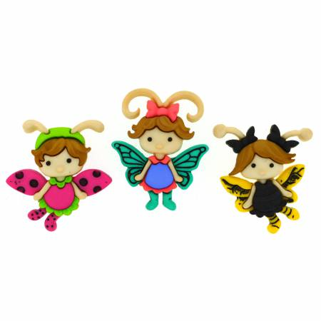 Dress it up Buttons Flutter Bugs II
