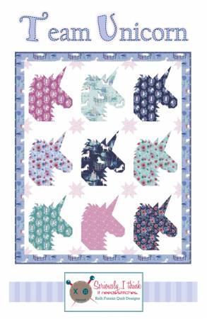 Riley Blake Designs Team Unicorn pattern- Kelli Fannin