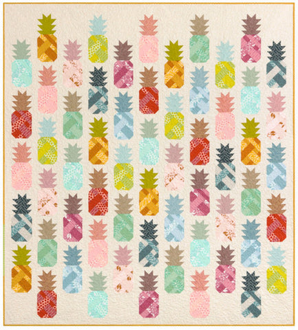Elizabeth Hartman Pineapple Farm Quilt Kit 43pcs 74in x 82in