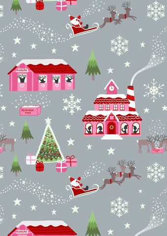 Lewis & Irene Christmas Glow North Pole Pink/Grey